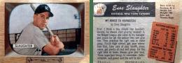Enos Slaughter 1955 Bowman #60