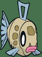 The fish Pokémon Feebas, in all its sad, dingy glory.