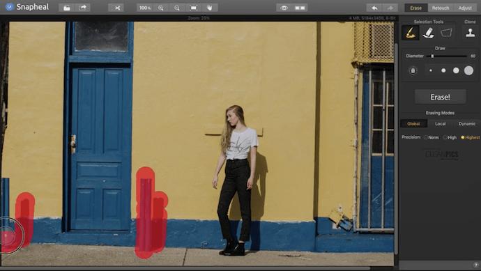 Snapheal, complemento de Photoshop
