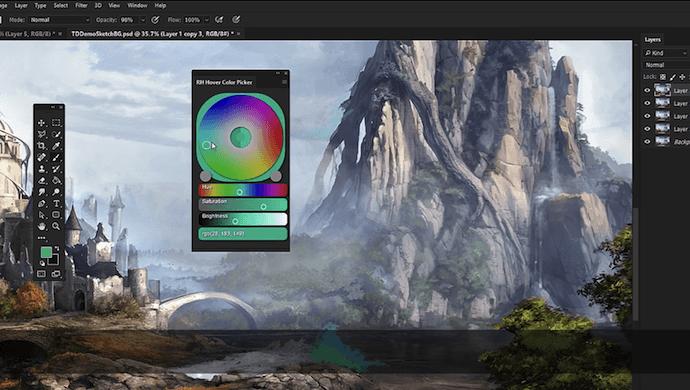 RH Hover Color Picker Plugin de Photoshop