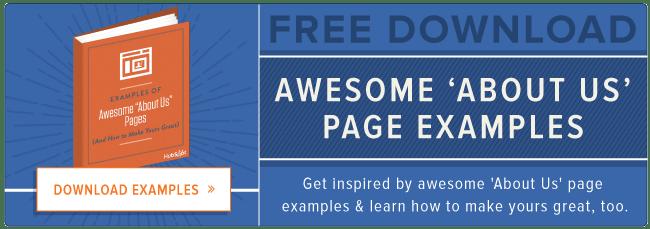 gratis sobre nosotros ejemplos de página