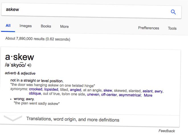 """Google Huevo de Pascua de la página de resultados 'asqueroso' width = """"660"""" style = """"width: 660px"""