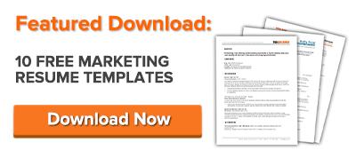 Gratis Plantillas de currículum de marketing