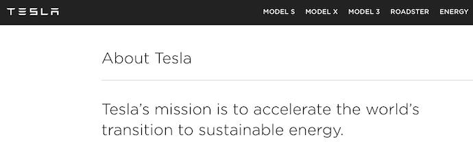 Visión de Tesla y declaración de la misión