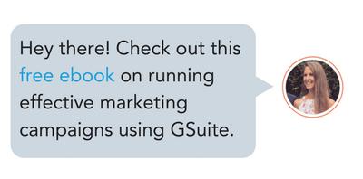 Vea este ebook gratis en funcionamiento Efectuar campañas de marketing utilizando GSuite.