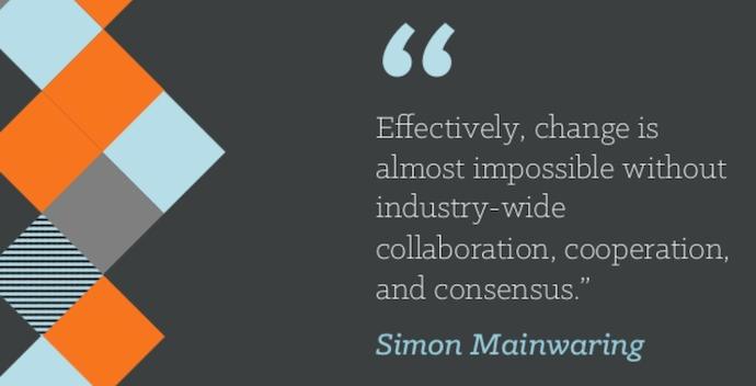 Cita de trabajo en equipo de Simon Mainwaring que dice