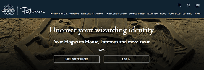 "Pottermore-website ""width ="" 690 ""style ="" width: 690px"