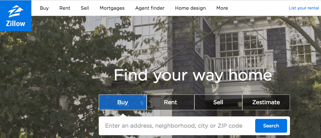 "Banner del sitio web de Zillow ""title ="" zillowbanner.png"