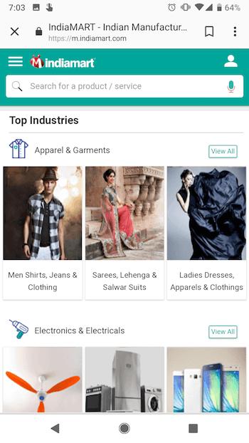 indiamart-mobile -website