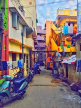 exploring the pretty back lanes on my way home one evening. bangalore, india. july 2015.