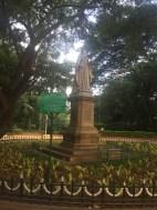 queen victoria statue in cubbon park. bangalore, india. november 2015.