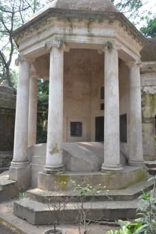 greek-influenced tombstone. calcutta, india. december 2015.