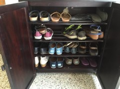 when did i collect so many pairs of shoes? bangalore, india. january 2016.