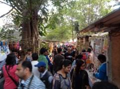 the crowd around 4pm. bangalore, india. january 2016.