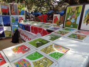 prints by kappansky on display. bangalore, india. january 2016.