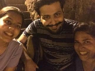 with ana and deboo at banganga tank. bombay, india. may 2016.