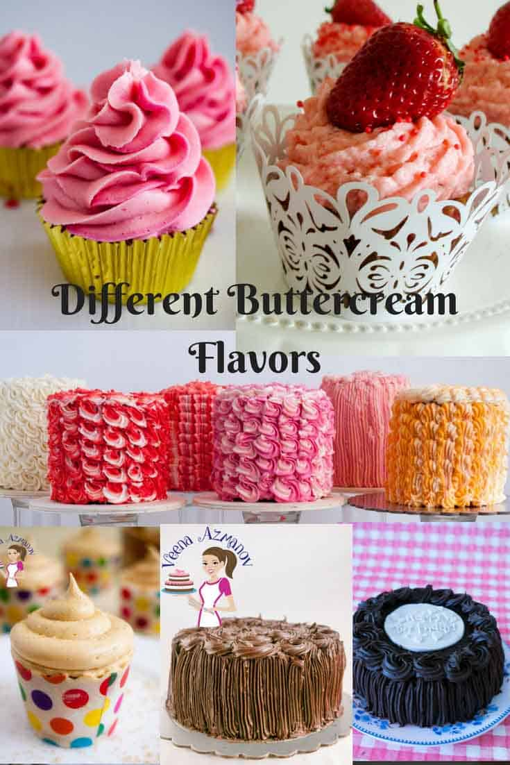 Stiff Buttercream frosting for cake decorating   Buttercream Flowers     Different Buttercream Flavor Recipes by Veena Azmanov