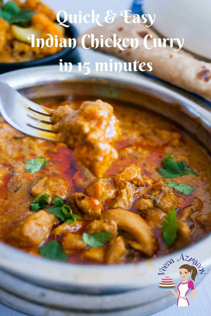 Quick and Easy Indian Chicken Curry in 15 Minutes - Veena ...