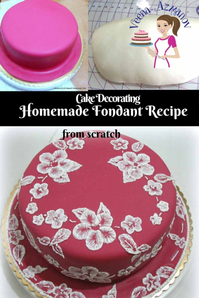 How To Make Fondant Icing And Simple Cake Decorating Tips Enjoy An Easy Homemade Rolled