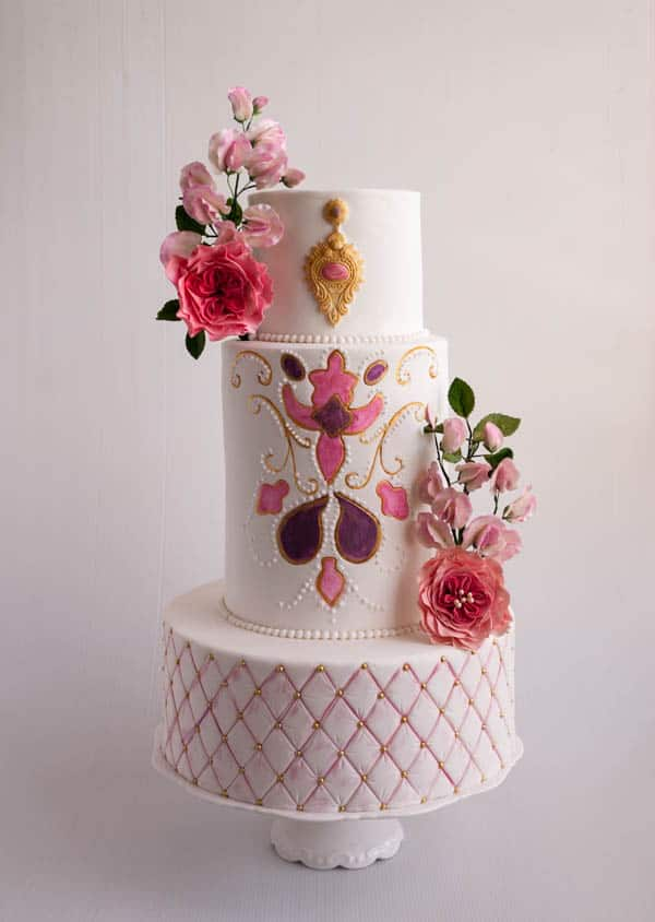 How to make Tall Cakes or Extended Height Cakes   Veena Azmanov     about 6 inches tall      With large circumference cakes the height cake  be almost negligent  But if you hold it besides a similar standard size you  would