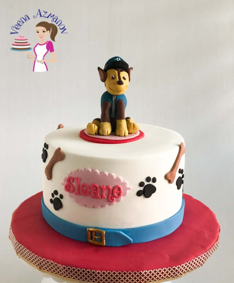 Paw Petrol Cake With Chase Cake Topper 2 Veena Azmanov
