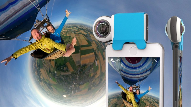 mobile-friendly camera, Giroptic iO