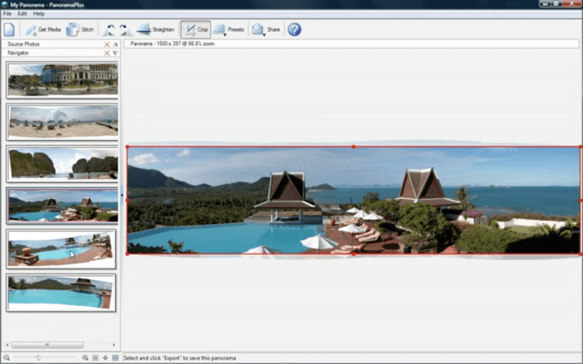 Serif Panorama Plus-360 photo stitching software