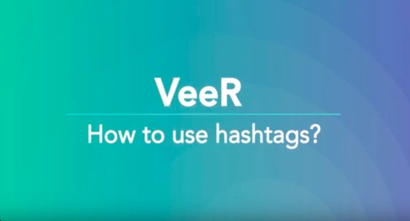 How to use hashtags on VeeR