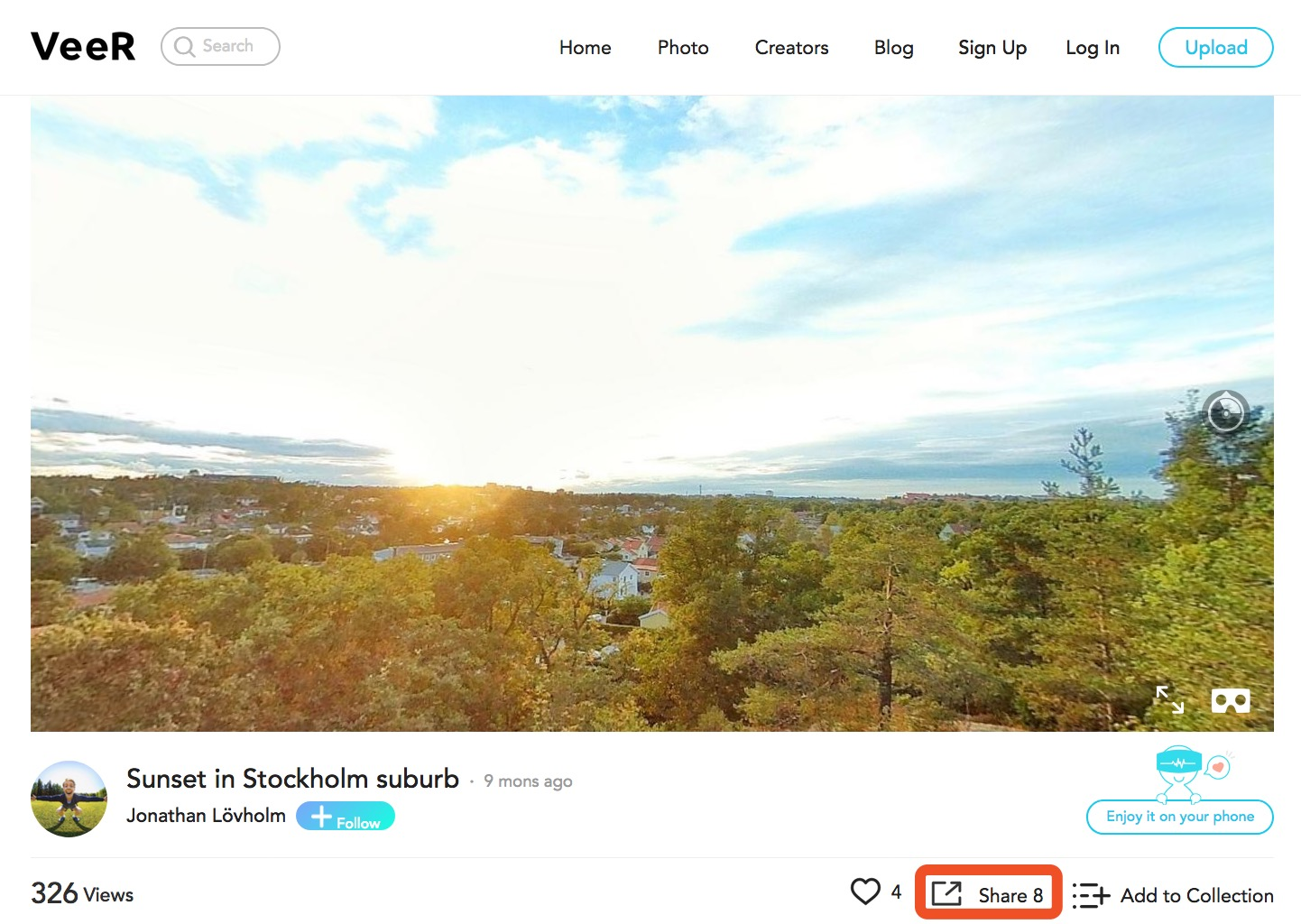 How to share and embed 360 photo with VeeR   VeeR VR Blog