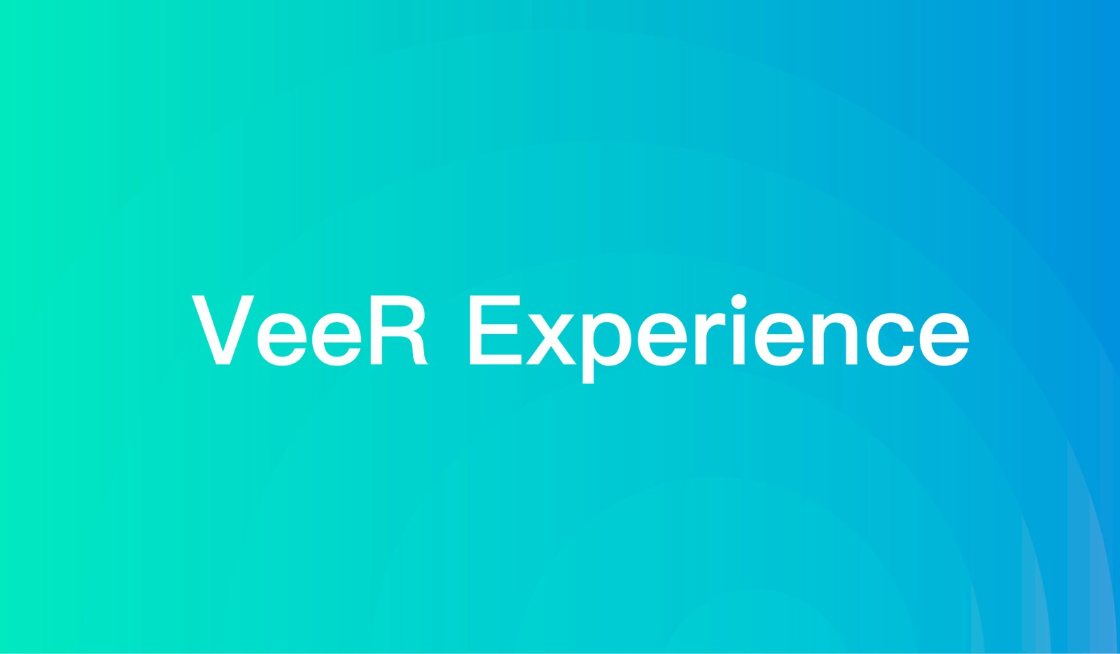 VeeR Launches 'Experience'
