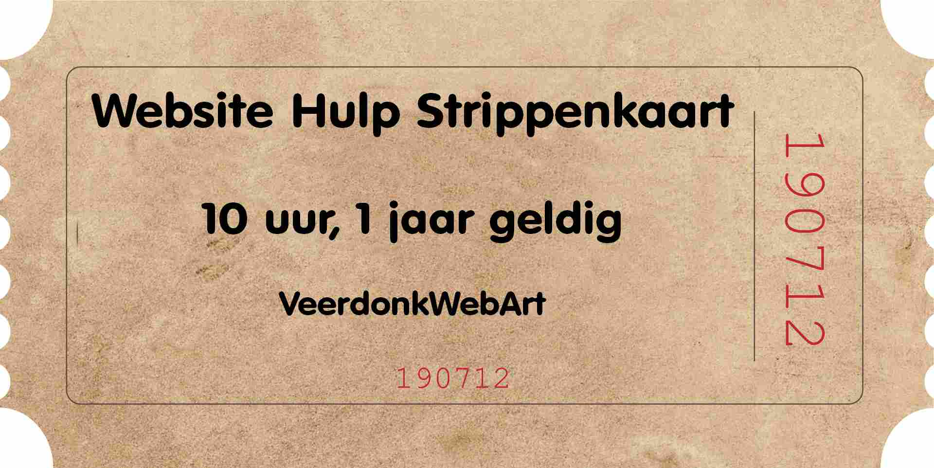 Websitehulp Strippenkaart
