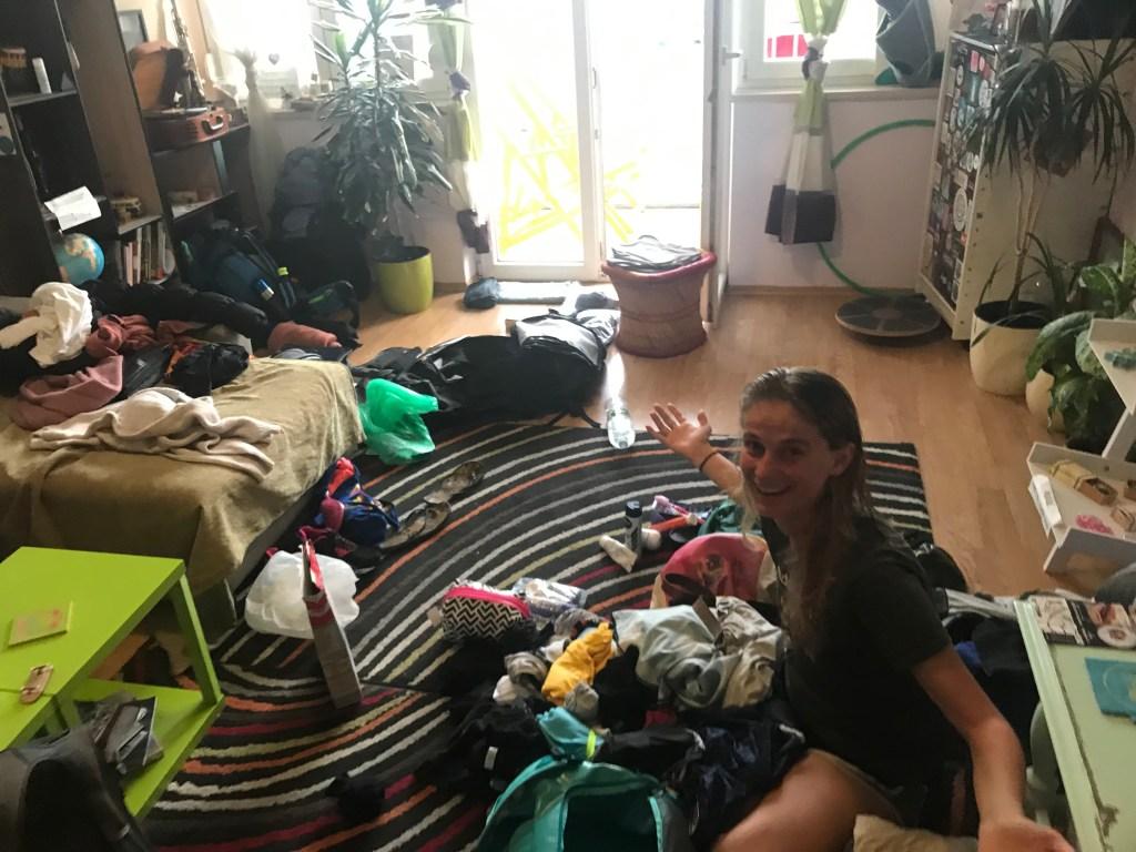 Inpakfestijn na een week in hetzelfde hostel