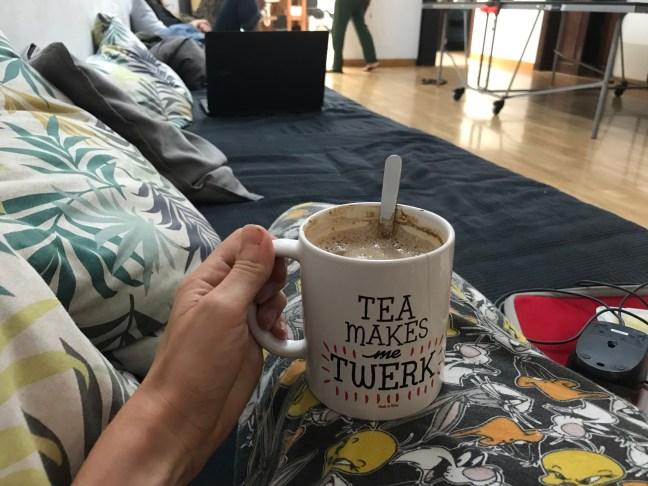 koffie in het hostel