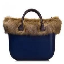 O Bag con bordo in pelliccia di murmasky