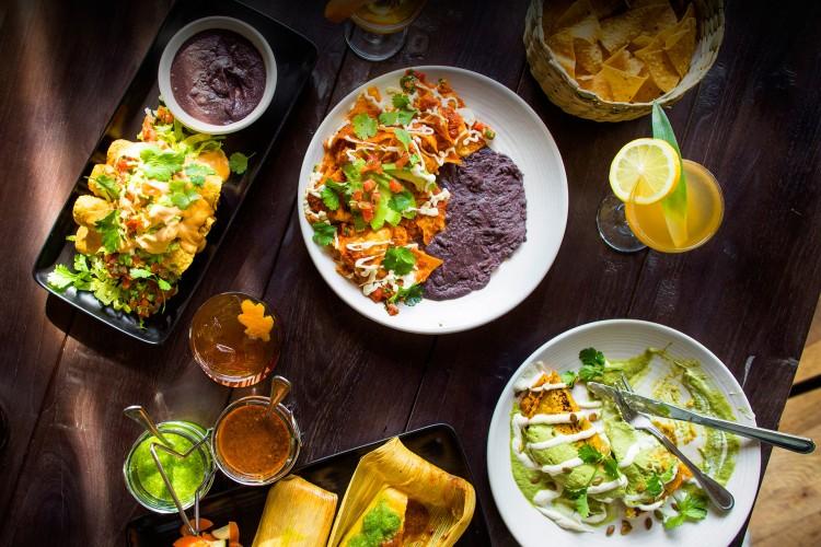 Tamales, nachos e outros pratos do Gracias Madre (Divulgação)
