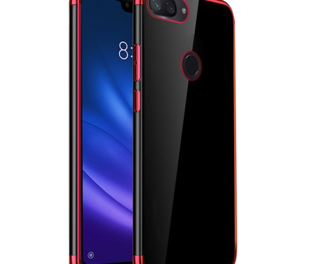 Fall Decken Case Ambit Tasche Xiaomi Mi Lite Mi  Lite Rot Glas
