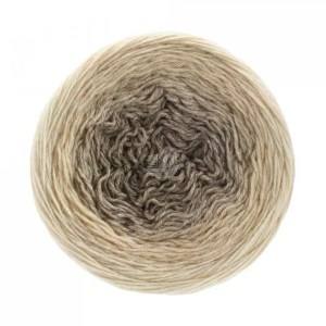 Garn til sjaler med silke i