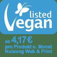 Vegan-Label ab 4,17 EUR pro Monat