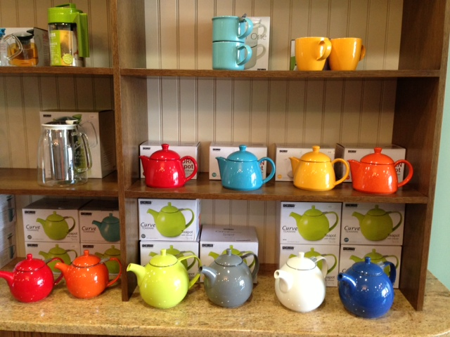 Benefits of Tea Colorful Curve and Stump Teapots and Two Cup Teapot