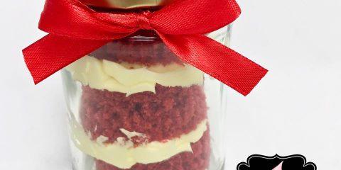 Red Velvet Cake jars