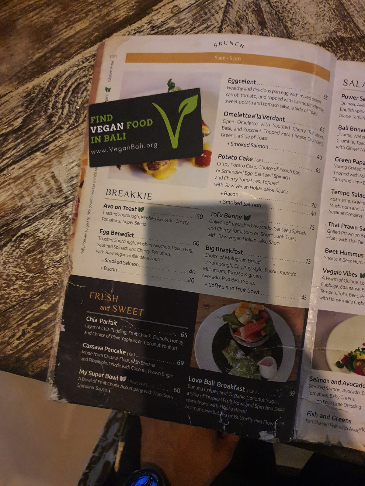 verdant kitchen menu