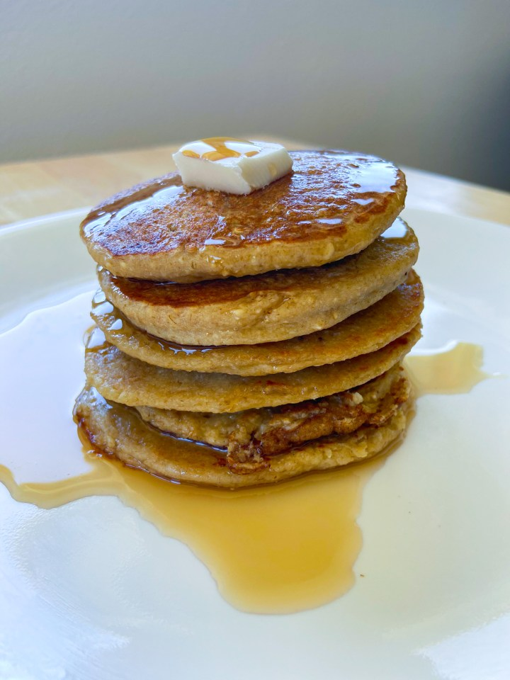 Three Ingredient Lazy Oat Pancakes