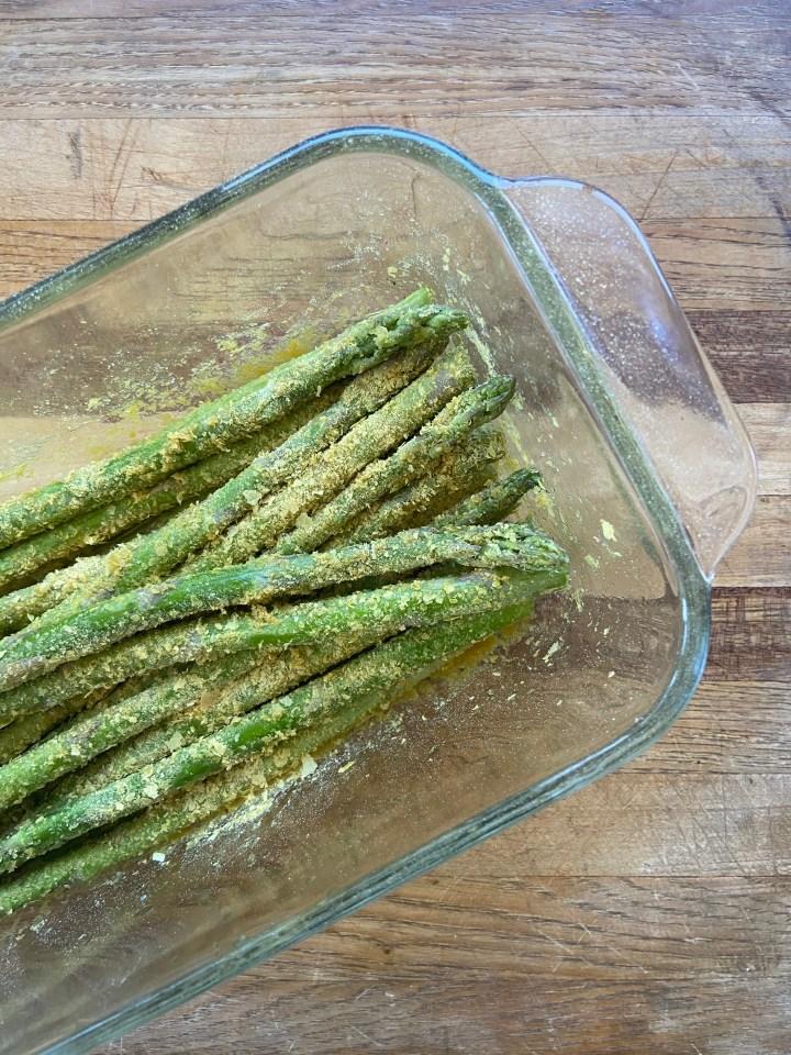 vegan parmesan asparagus