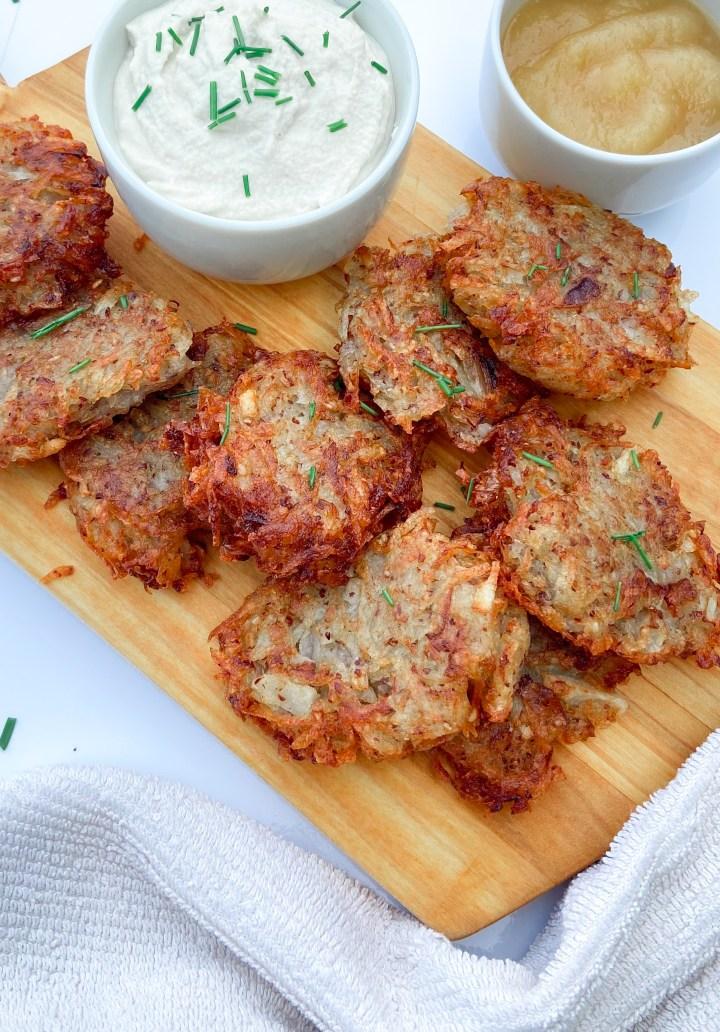 Easy Gluten-Free Vegan Latkes