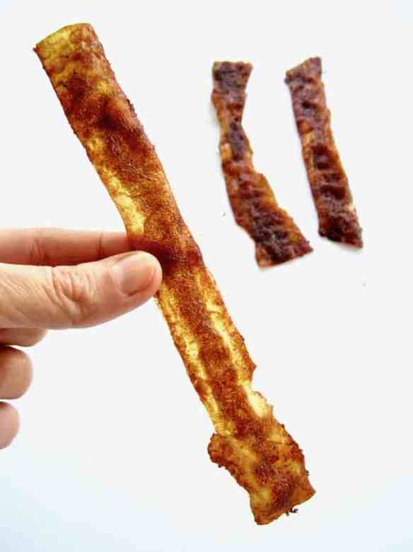 Vegan Rice Paper Bacon Strips Recipe - looks real. Tastes real. 100% plant based.   {gluten, nut & refined sugar free, soy free option} veganchickpea.com