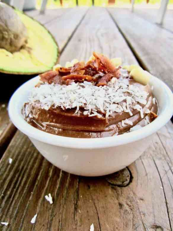Chocolate Peanut Butter Pudding with Coconut Bacon - a delightful combo of the classic peanut butter and chocolate, PLUS a sweet and savory topping of coconut bacon! refined sugar free + vegan + gluten free   veganchickpea.com