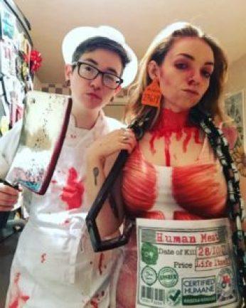 costume couple boucher viande humaine