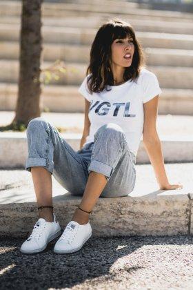 T-shirt femme blanc VGTL