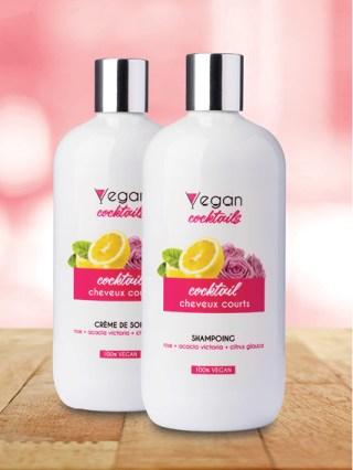 Shampoing vegan et soins naturels pour cheveux courts