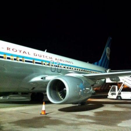 KLM plane oldschool